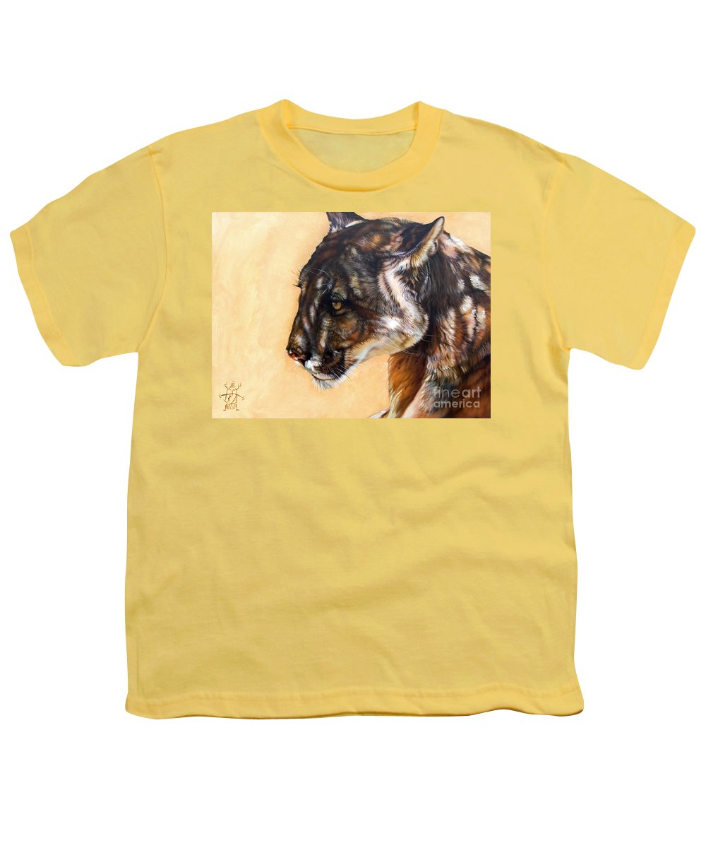 Catamount Youth T-Shirt featuring the painting Dappled by J W Baker
