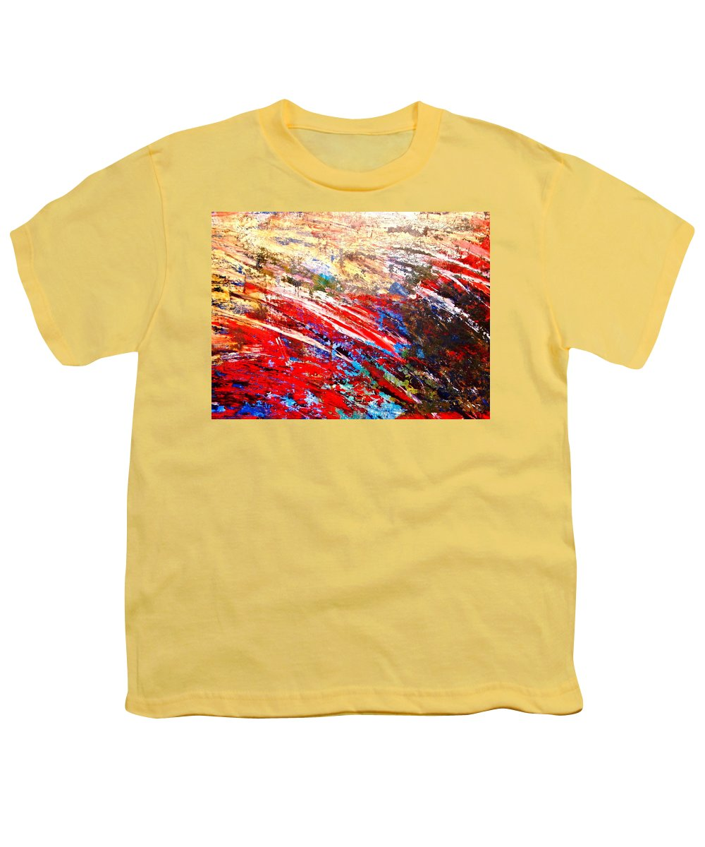 Expressionism Youth T-Shirt featuring the painting Emotional Explosion by Natalie Holland