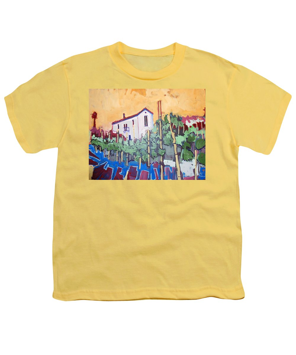 Farm House Youth T-Shirt featuring the painting Farm House by Kurt Hausmann