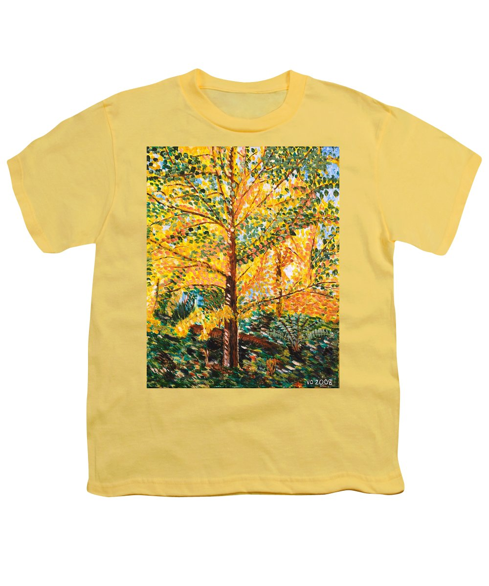 Tree Youth T-Shirt featuring the painting Gingko Tree by Valerie Ornstein