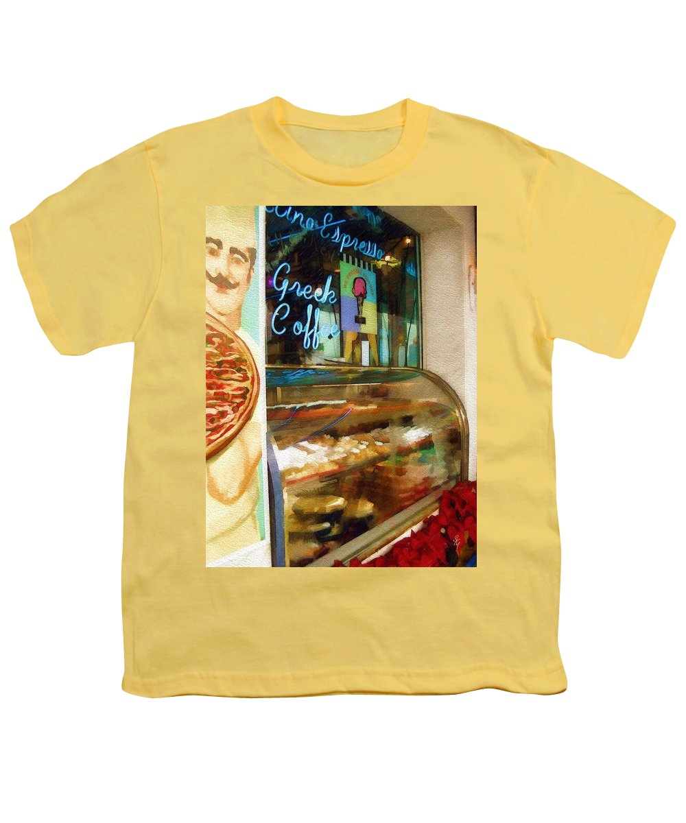 Greek Youth T-Shirt featuring the photograph Greek Coffee by Sandy MacGowan