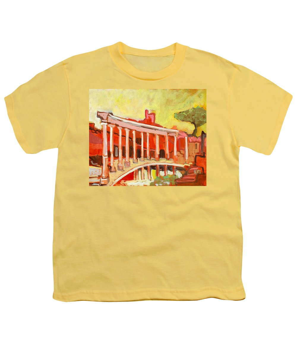 Villa Youth T-Shirt featuring the painting Hadrian's Villa by Kurt Hausmann