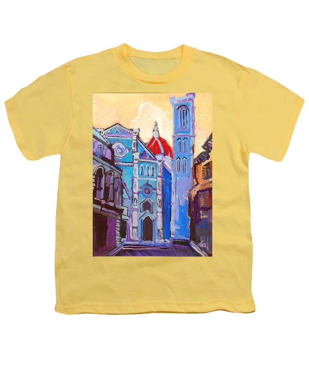 Florence Youth T-Shirt featuring the painting In The Middle Of by Kurt Hausmann