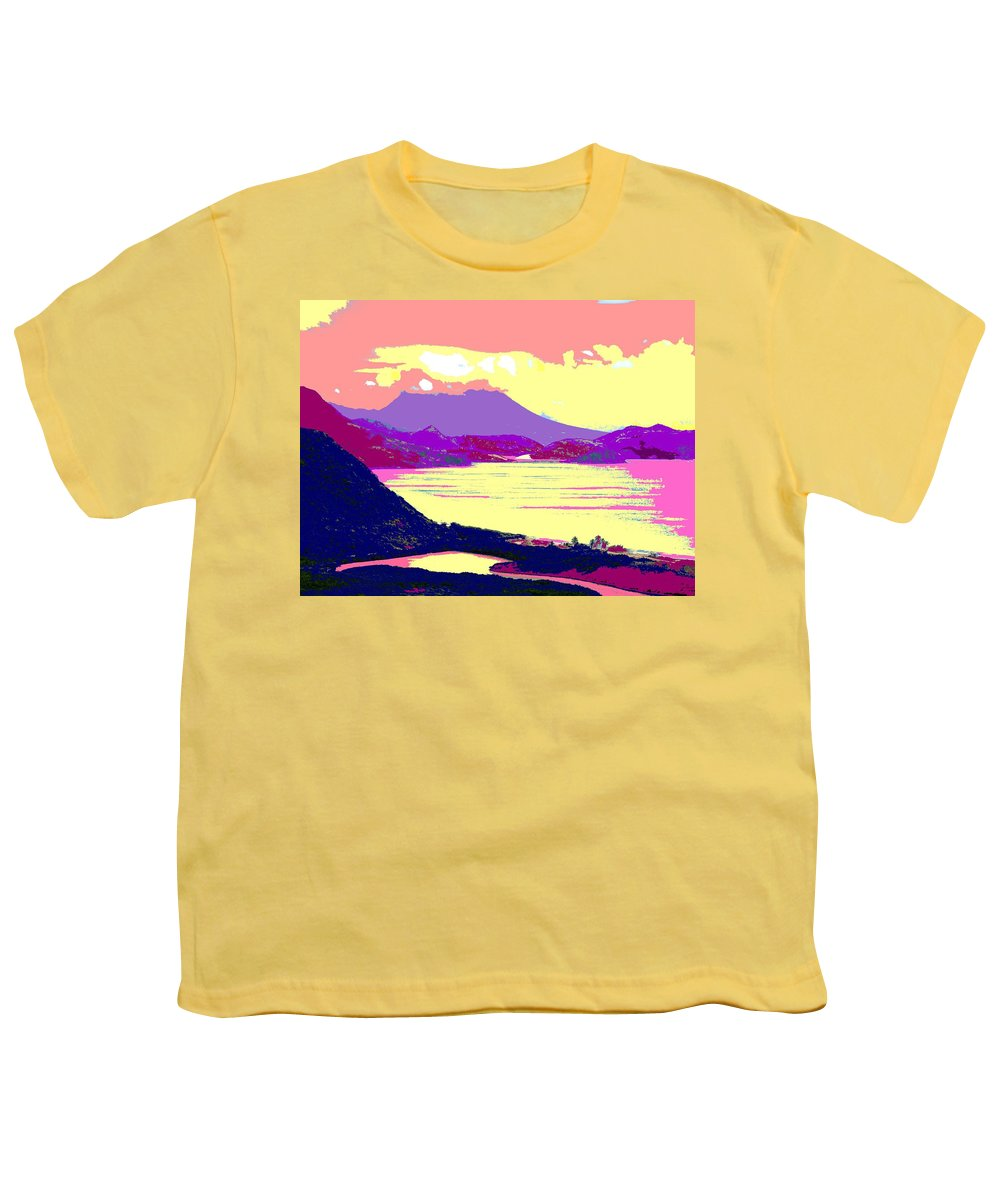 Nevis Youth T-Shirt featuring the photograph Nevis From The Penninsula by Ian MacDonald