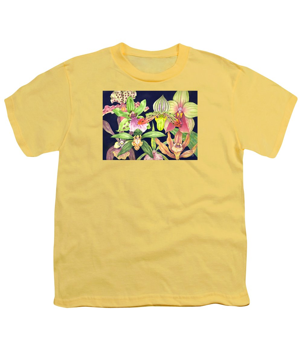 Orchids Youth T-Shirt featuring the painting Orchids by Lucy Arnold