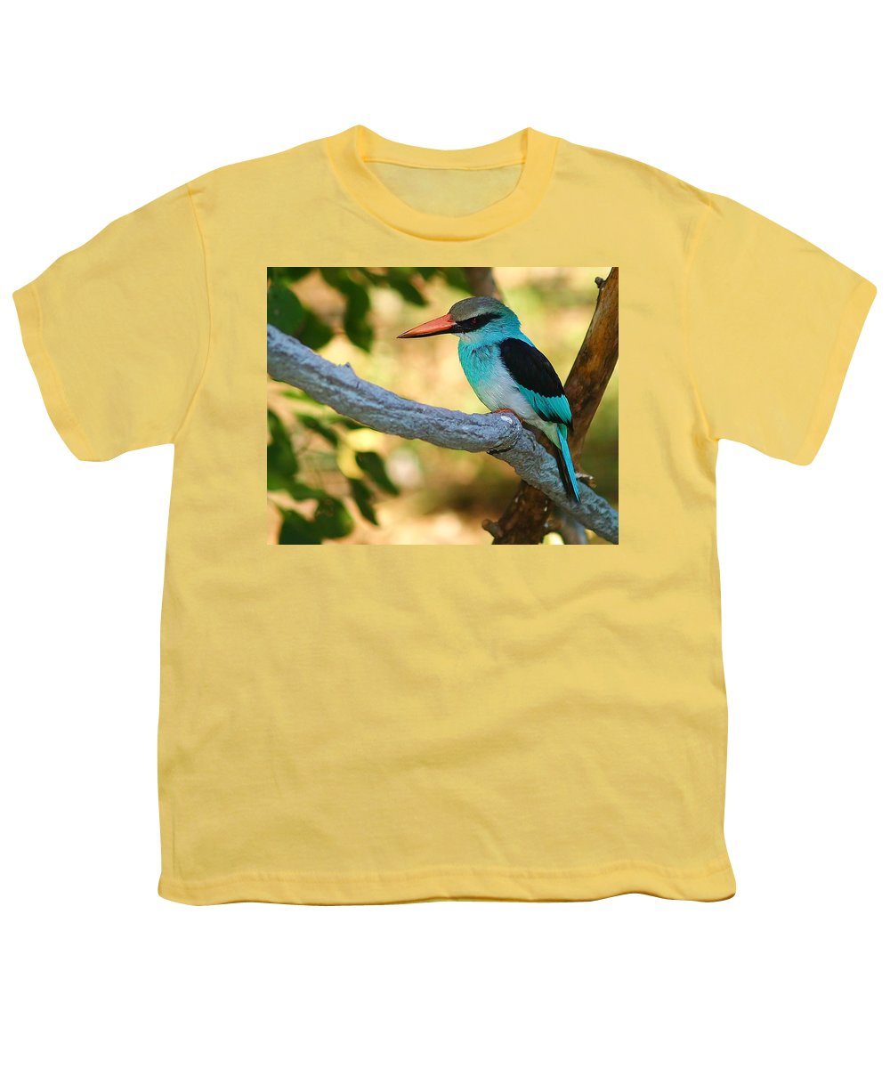 Kingfisher Youth T-Shirt featuring the photograph Pretty Bird by Gaby Swanson