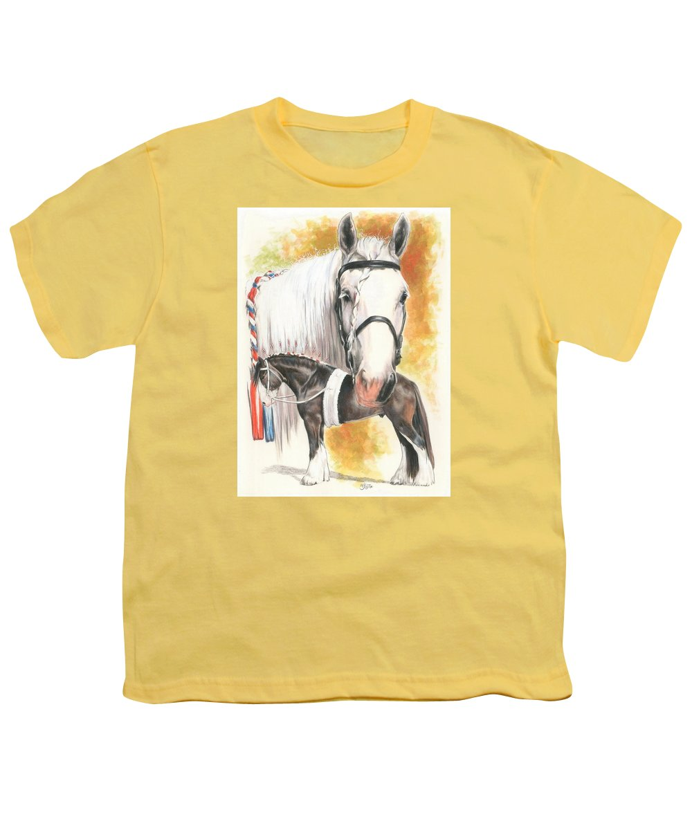 Shire Youth T-Shirt featuring the mixed media Shire by Barbara Keith