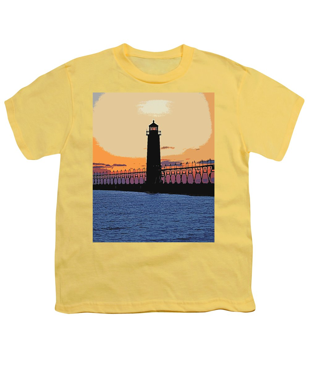 Light House Youth T-Shirt featuring the photograph Standing Sure by Robert Pearson