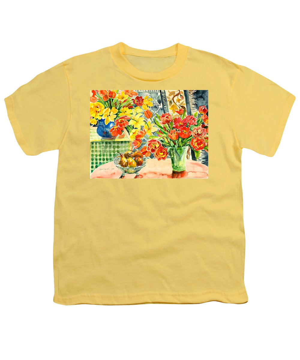 Watercolor Youth T-Shirt featuring the painting Studio Still Life by Ingrid Dohm