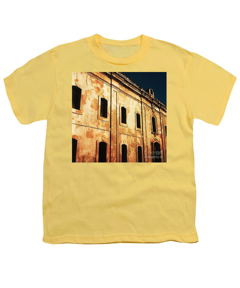 Buildings Youth T-Shirt featuring the photograph Sun Kissed by Jeff Barrett