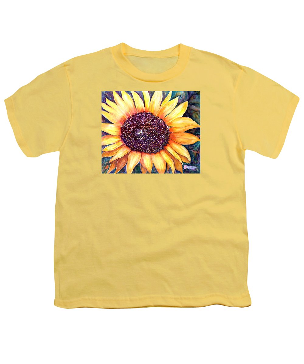 Sunflower Youth T-Shirt featuring the painting Sunflower Of Georgia by Norma Boeckler