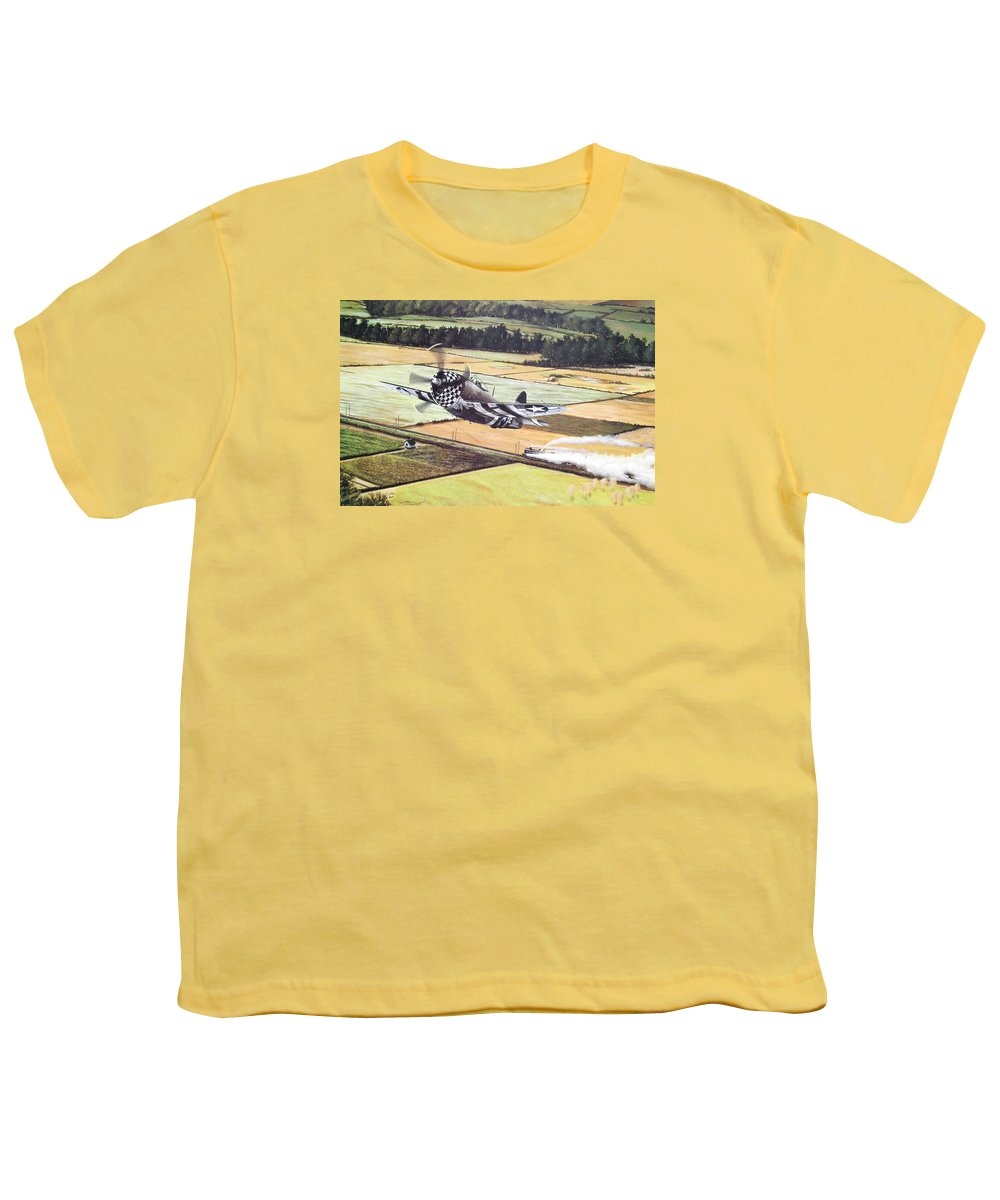 Military Youth T-Shirt featuring the painting Target Of Opportunity by Marc Stewart