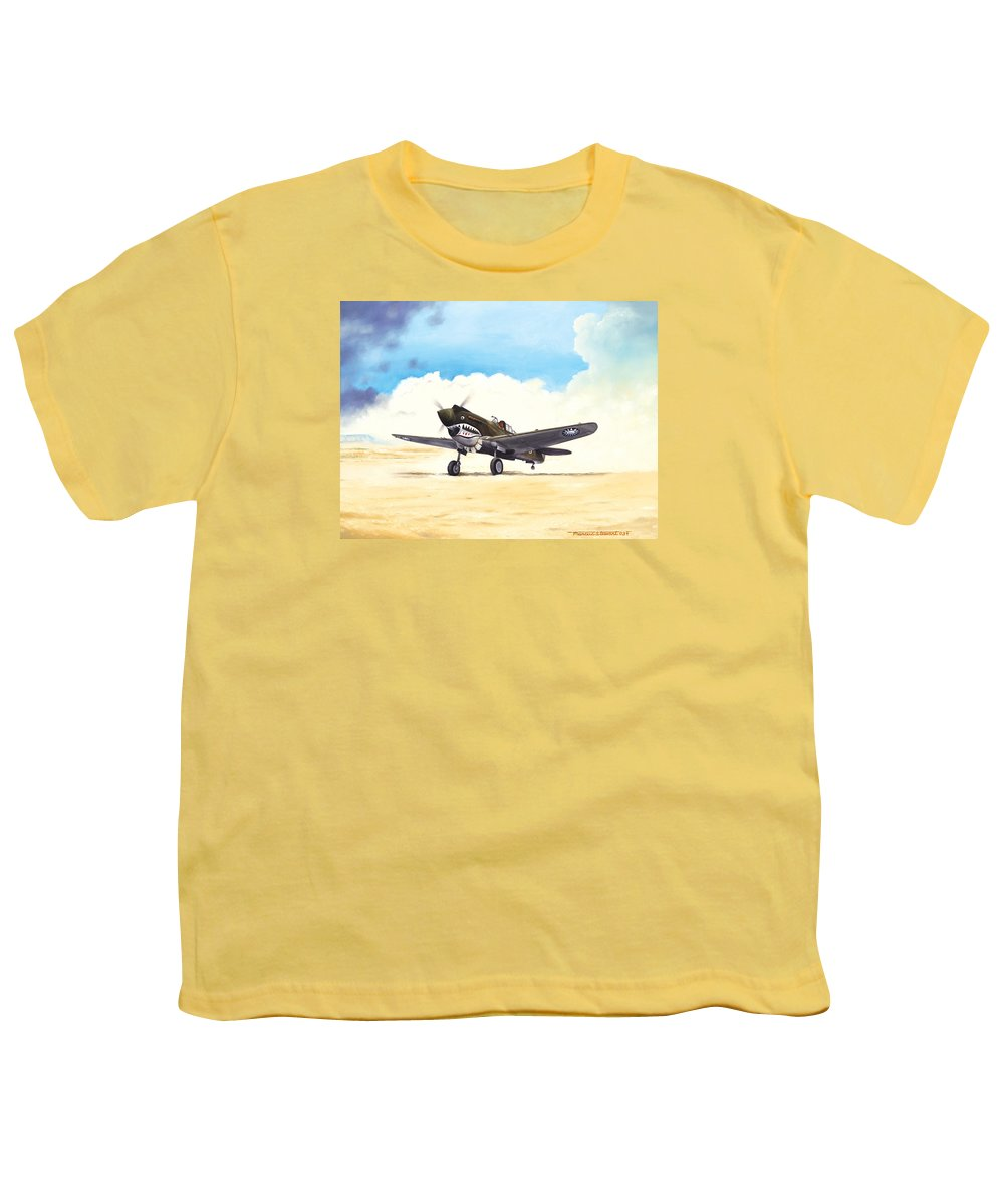 Aviation Youth T-Shirt featuring the painting Tiger Scramble by Marc Stewart