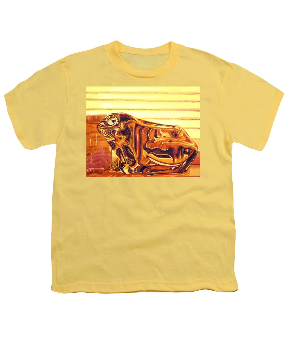 Frog Youth T-Shirt featuring the painting Untitled by Judy Henninger