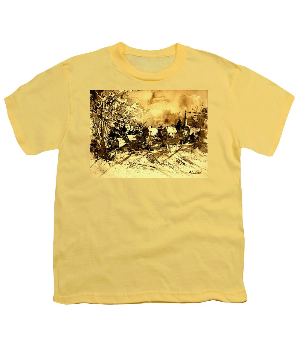 Youth T-Shirt featuring the painting Watercolor 01 by Pol Ledent