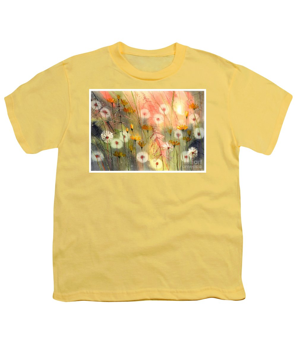 Watercolor Youth T-Shirt featuring the painting In The Morning Haze by Suzann Sines