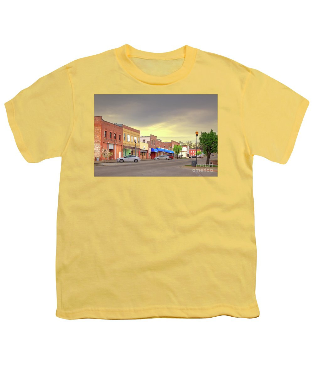 Explore Youth T-Shirt featuring the photograph Park Hills Missouri by Larry Braun