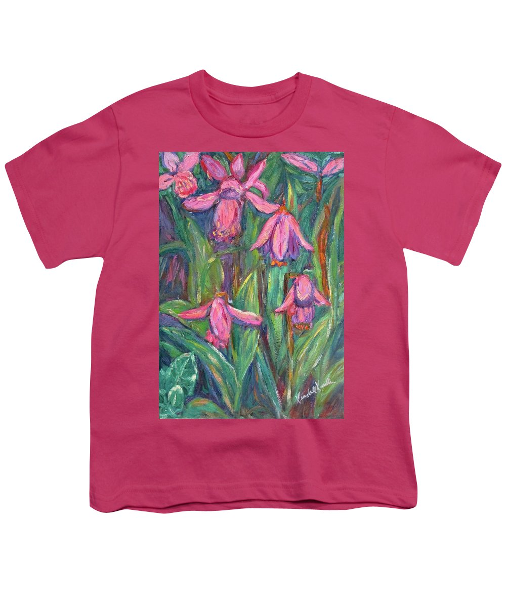 Floral Youth T-Shirt featuring the painting Chinese Orchids by Kendall Kessler