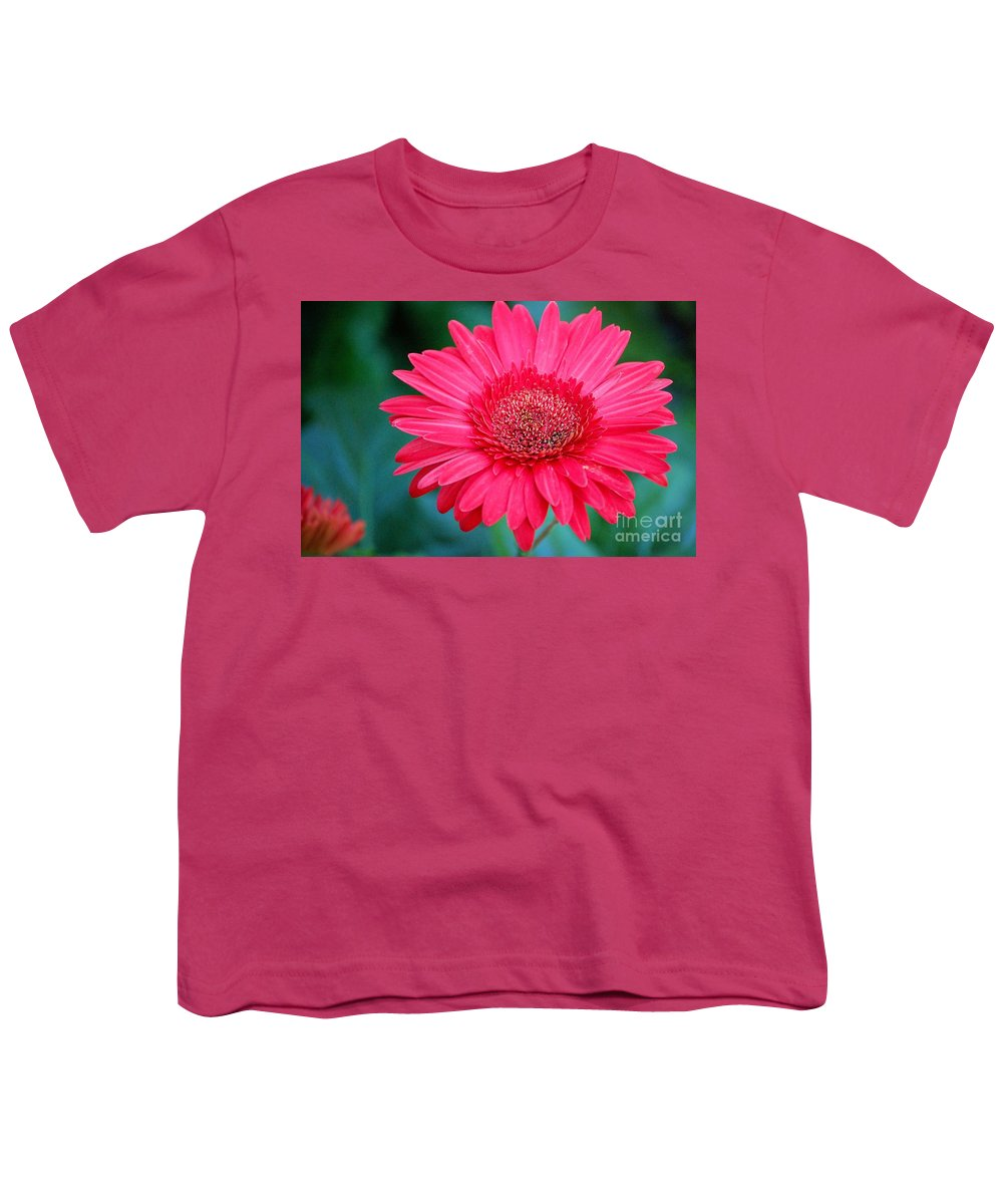 Gerber Daisy Youth T-Shirt featuring the photograph In The Pink by Debbi Granruth