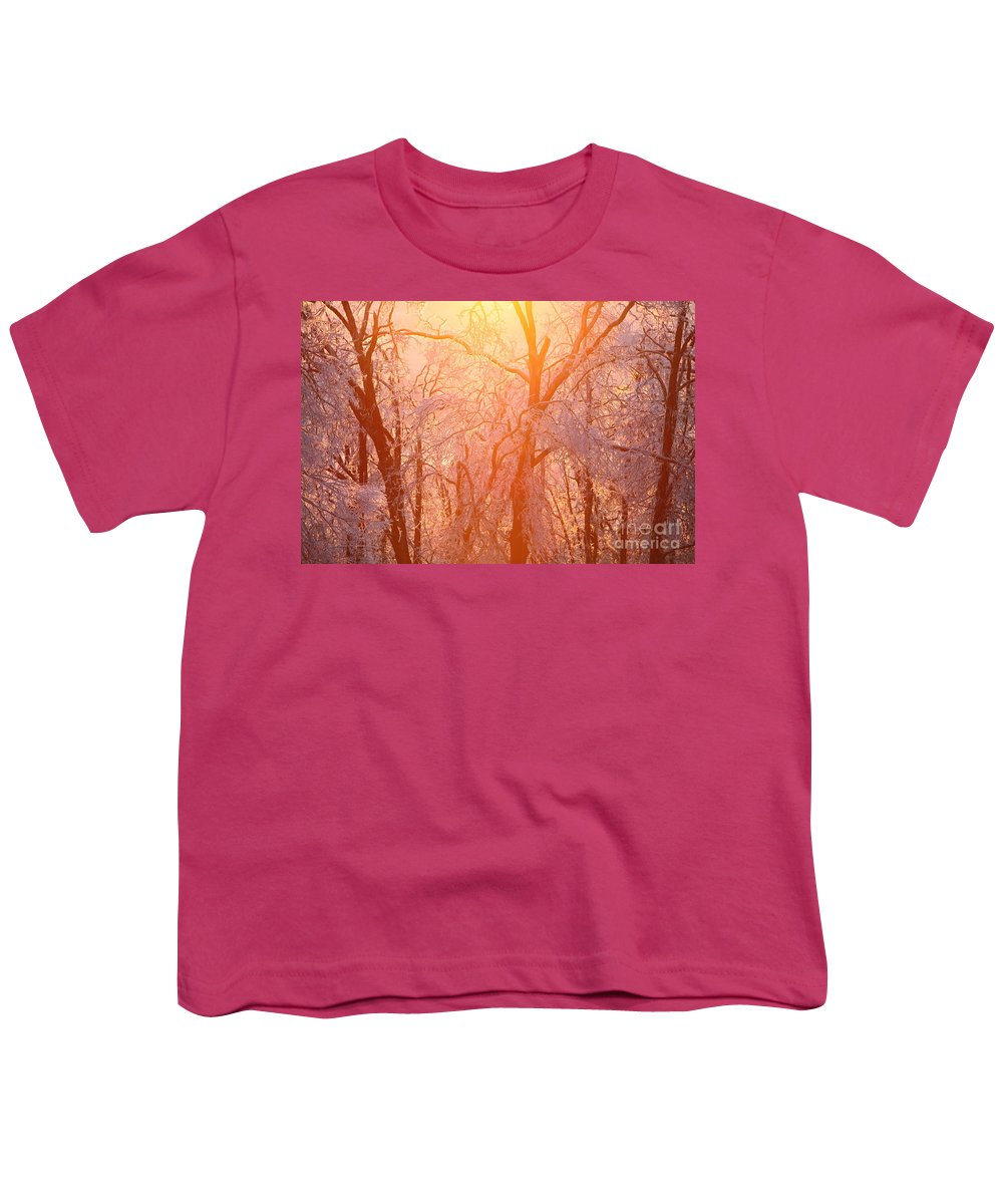 Pink Youth T-Shirt featuring the photograph Pink And Gold by Nadine Rippelmeyer