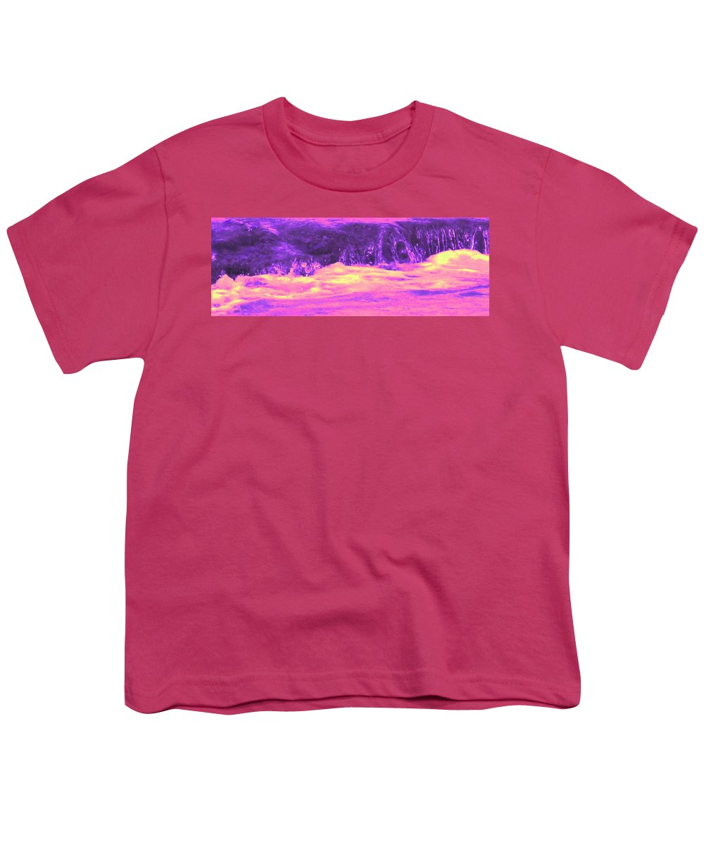 Seascape Youth T-Shirt featuring the photograph Pink Tidal Pool by Ian MacDonald