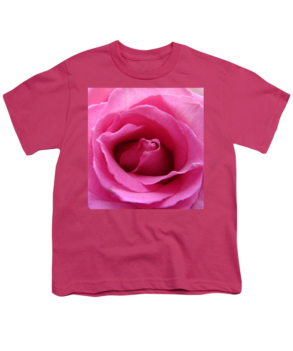 Rose Pink Pedals Youth T-Shirt featuring the photograph Soft And Pink by Luciana Seymour