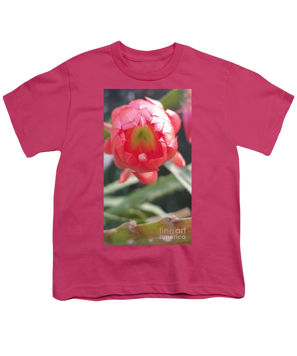 Youth T-Shirt featuring the photograph Red Flower by Paola Baroni
