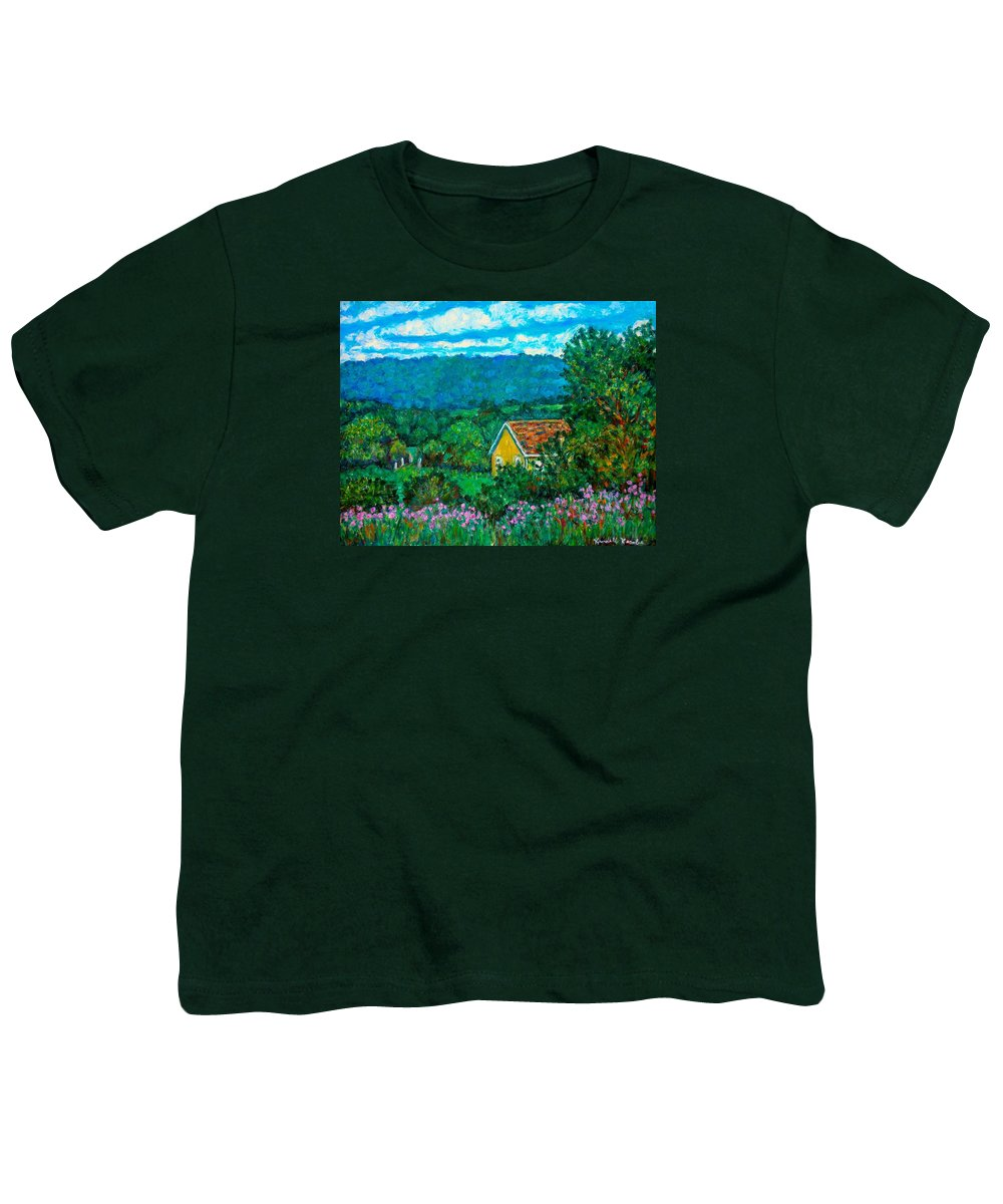 Landscape Youth T-Shirt featuring the painting 460 by Kendall Kessler