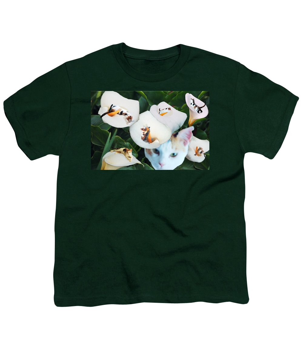 Cat Youth T-Shirt featuring the digital art Cala In Callas by Lisa Yount