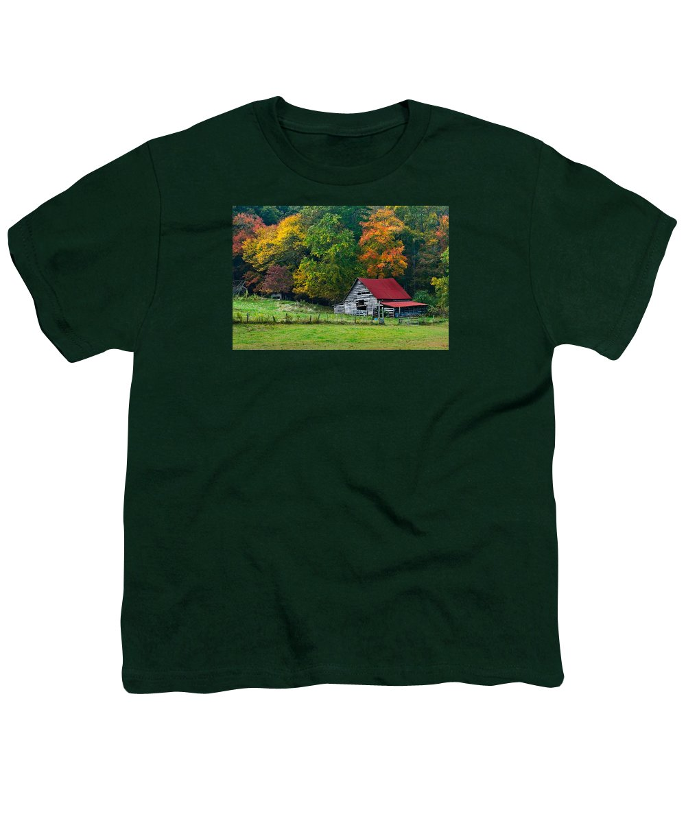 Appalachia Youth T-Shirt featuring the photograph Candy Mountain by Debra and Dave Vanderlaan