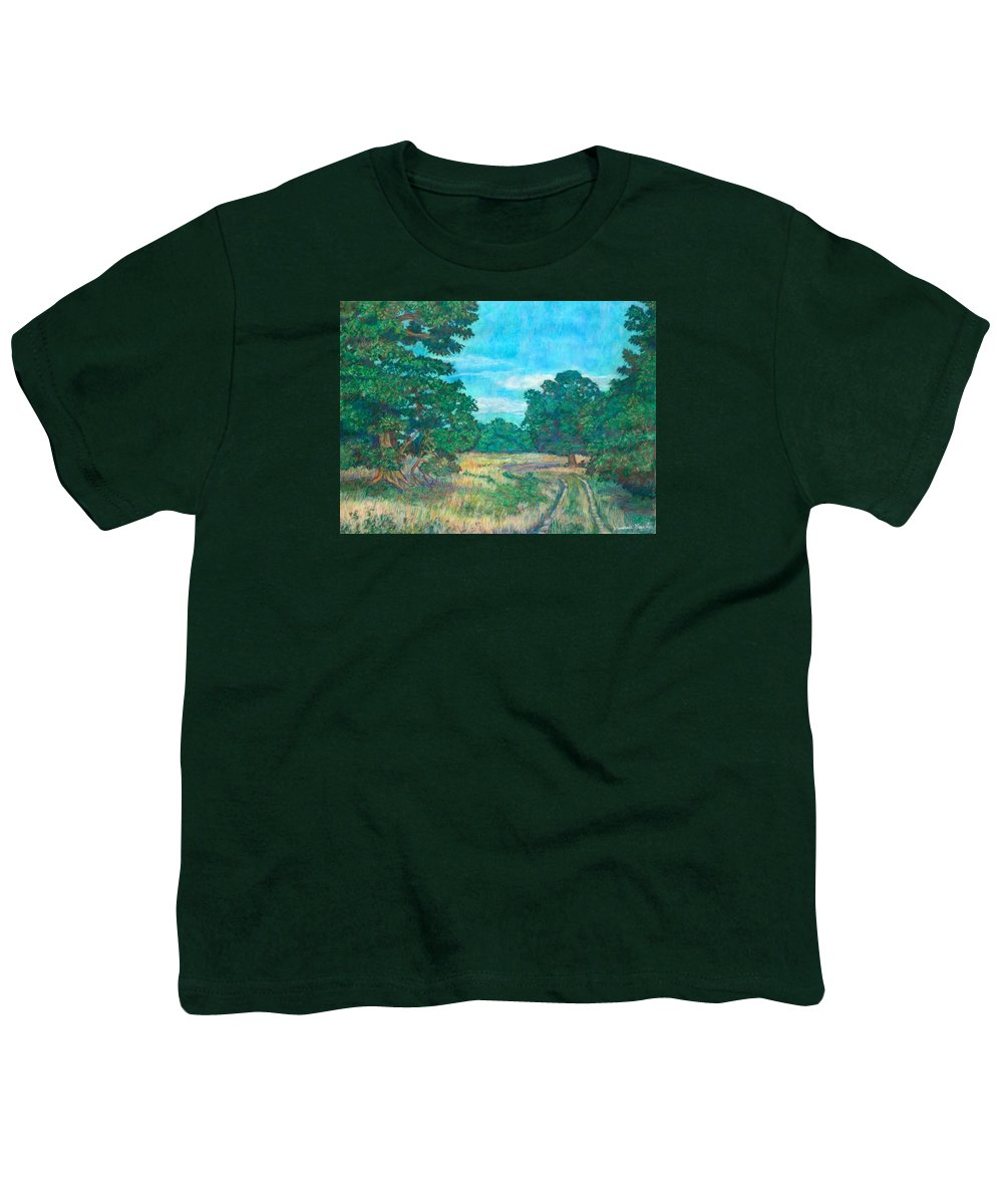 Landscape Youth T-Shirt featuring the painting Dirt Road Near Rock Castle Gorge by Kendall Kessler
