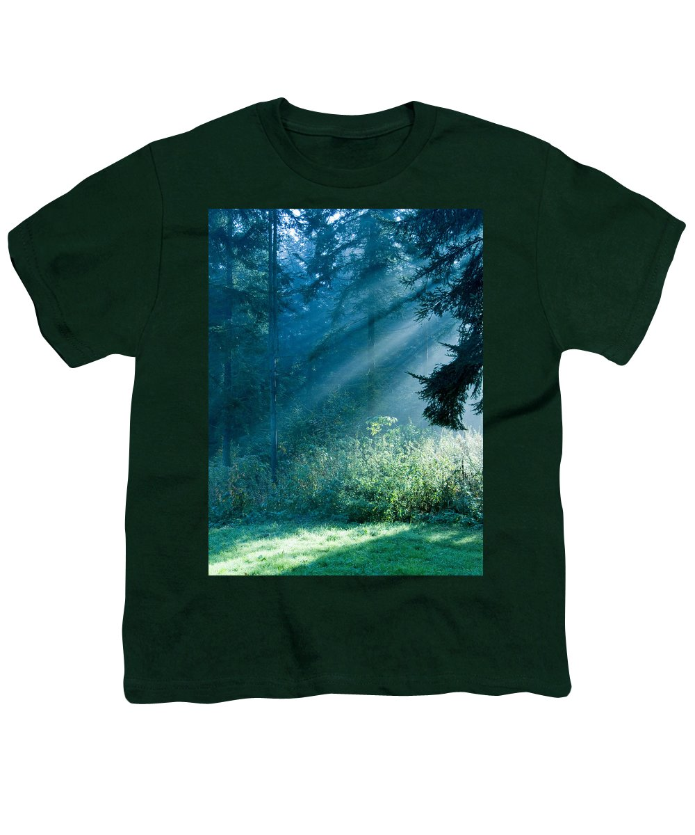 Nature Youth T-Shirt featuring the photograph Elven Forest by Daniel Csoka