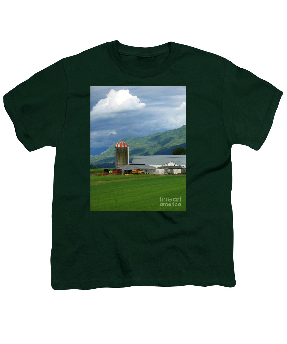 Farm Youth T-Shirt featuring the photograph Farm In The Valley by Ann Horn