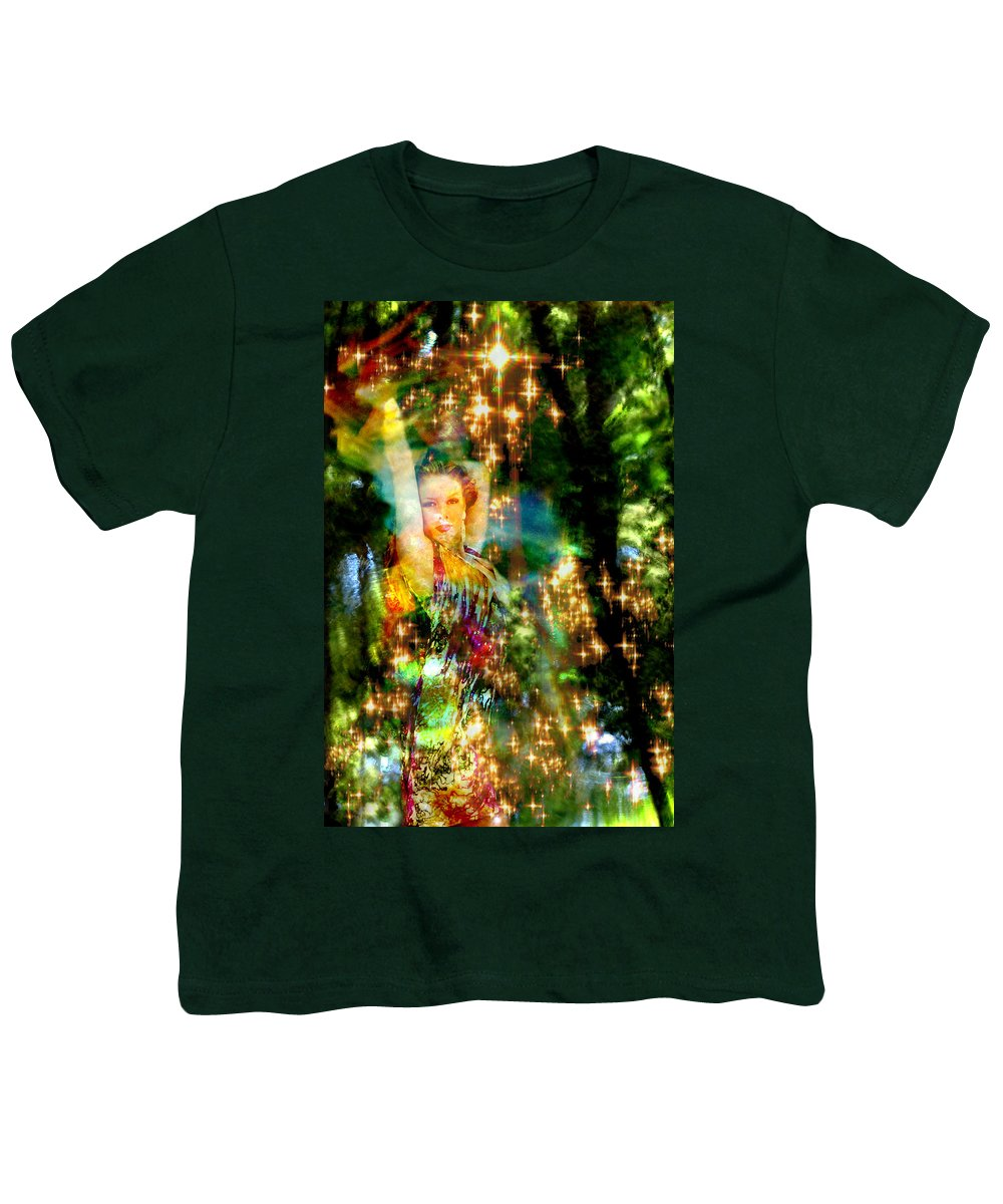 Forest Youth T-Shirt featuring the digital art Forest Goddess 4 by Lisa Yount