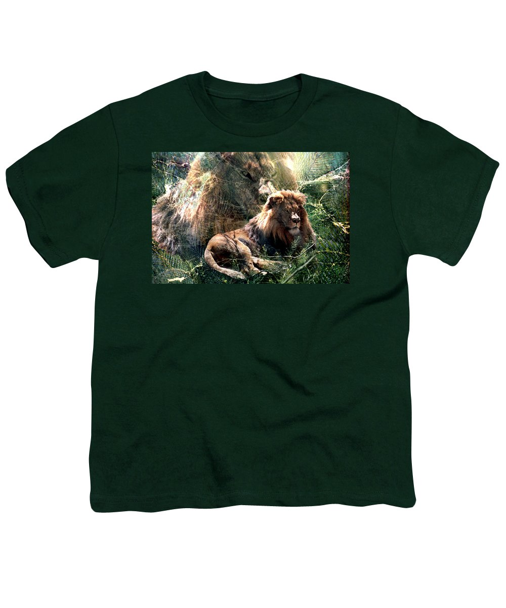 Lion Youth T-Shirt featuring the digital art Lion Spirit by Lisa Yount