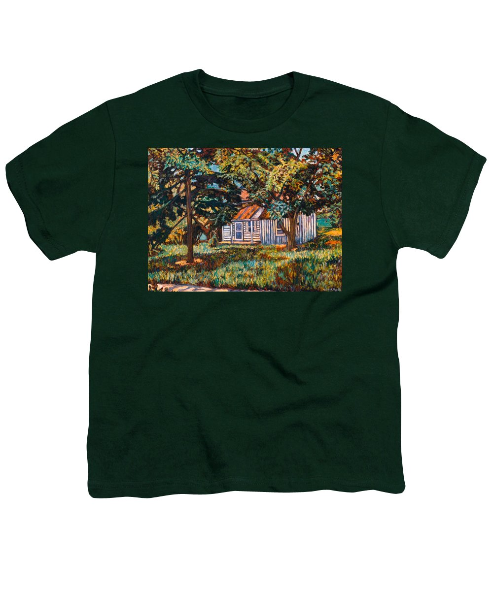 Architecture Youth T-Shirt featuring the painting Near The Tech Duck Pond by Kendall Kessler