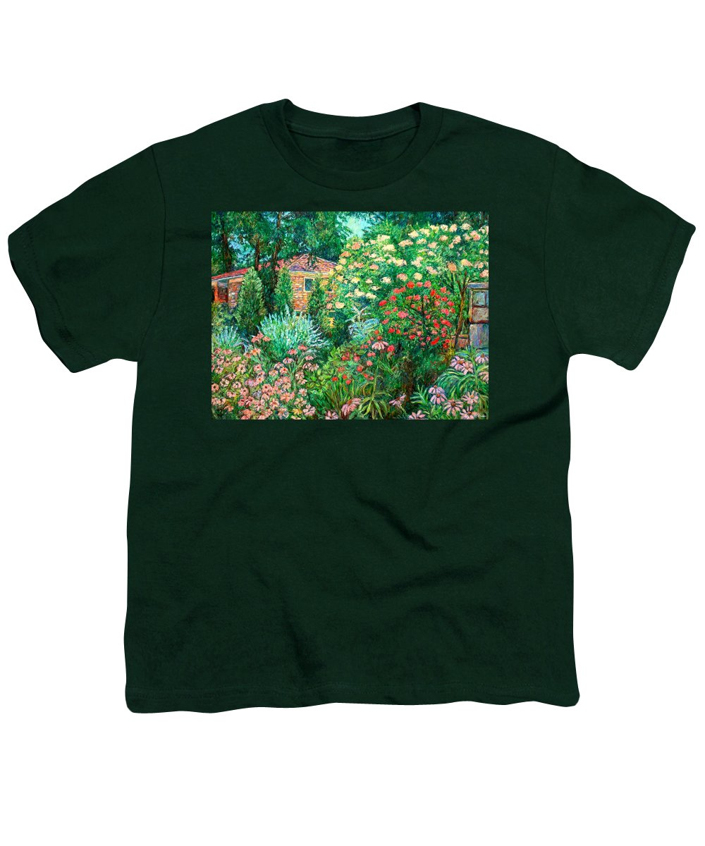 Garden Youth T-Shirt featuring the painting North Albemarle In Mclean Va by Kendall Kessler