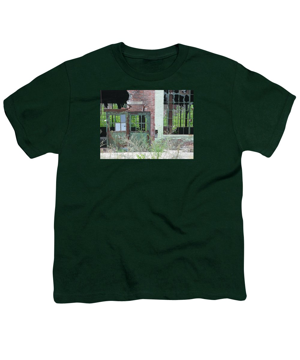 Factory Youth T-Shirt featuring the photograph Obsolete by Ann Horn