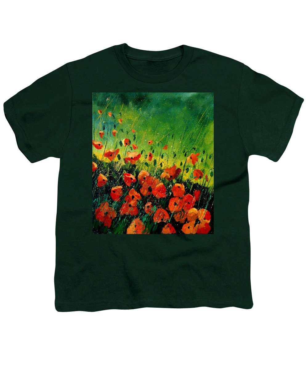 Poppies Youth T-Shirt featuring the painting Orange Poppies by Pol Ledent