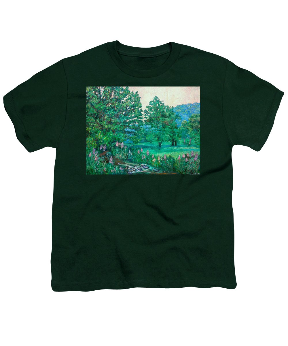 Landscape Youth T-Shirt featuring the painting Park Road In Radford by Kendall Kessler