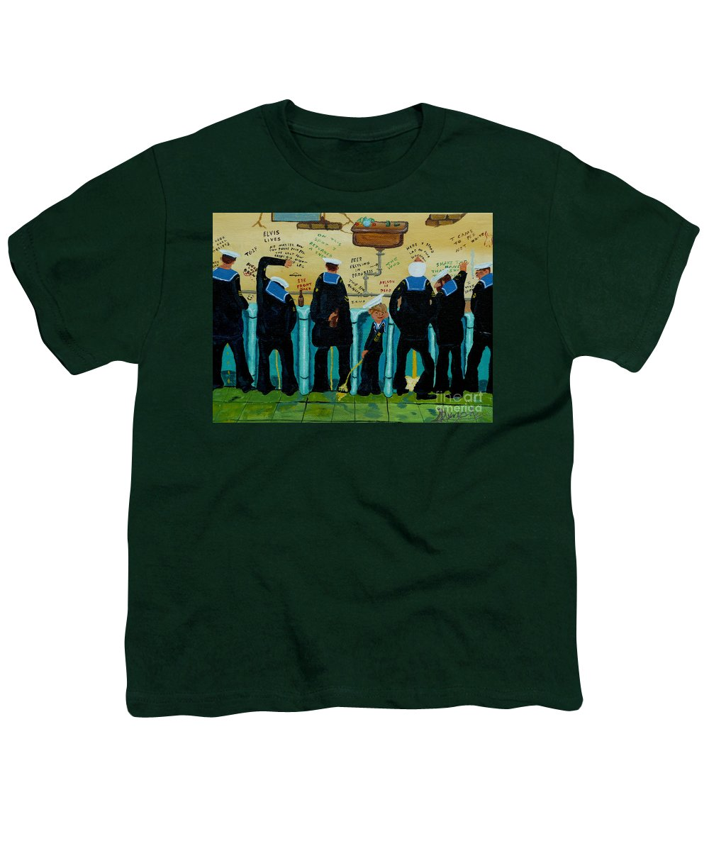 Sailors Youth T-Shirt featuring the painting Seven Sailors by Anthony Dunphy