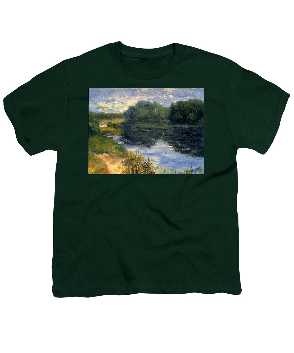 Landscape Youth T-Shirt featuring the painting Summer At Jackson Lake by Gail Kirtz