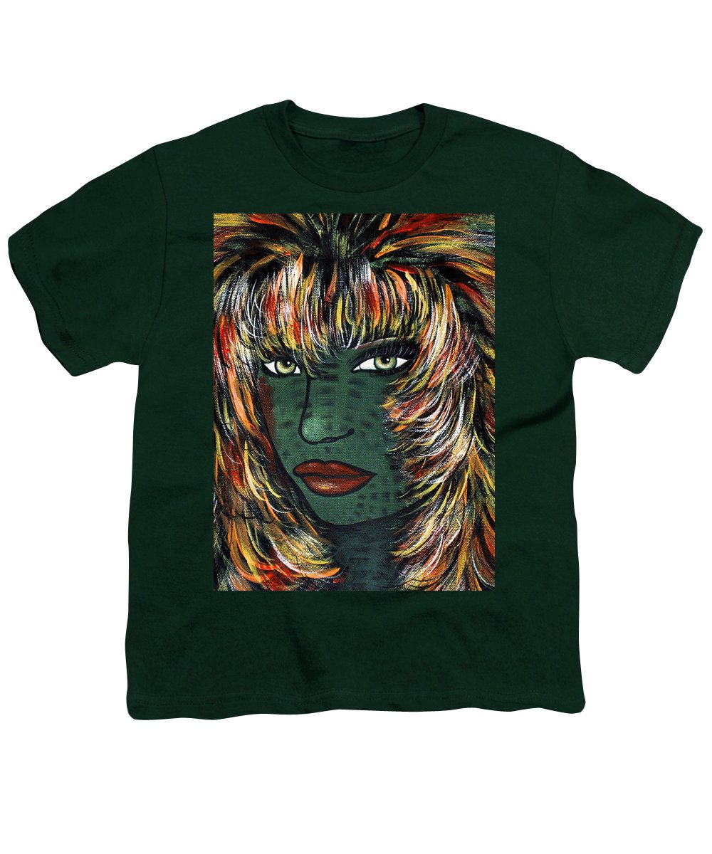 Woman Youth T-Shirt featuring the painting Tattoo by Natalie Holland