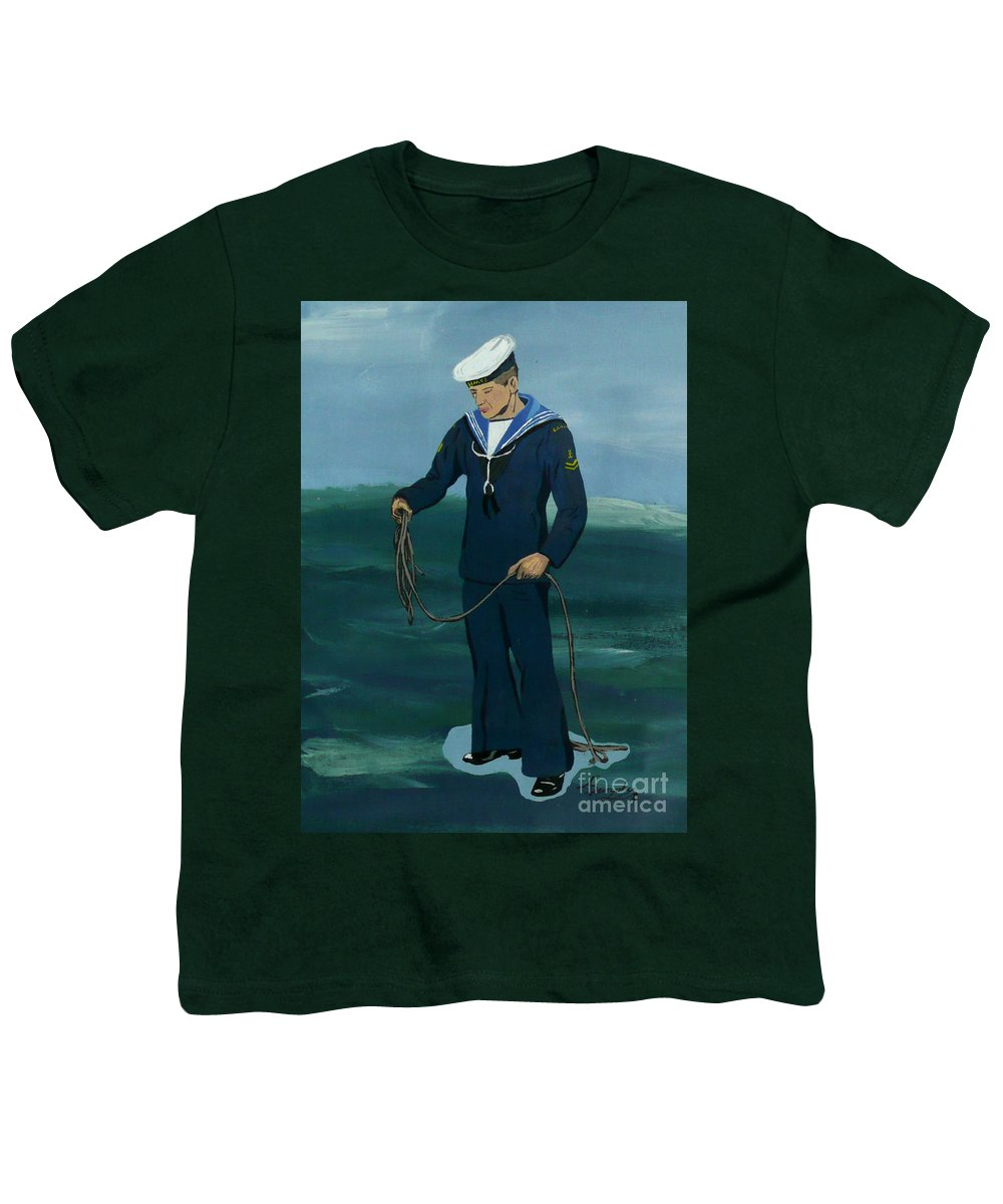 Sailor Youth T-Shirt featuring the painting The Sailor by Anthony Dunphy