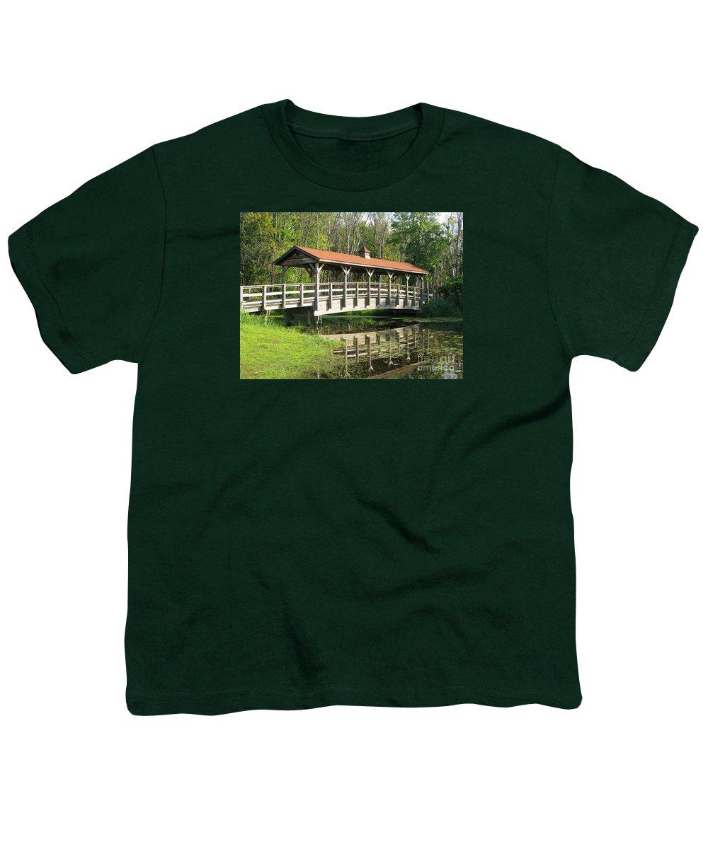 Bridge Youth T-Shirt featuring the photograph Wetland Footbridge by Ann Horn