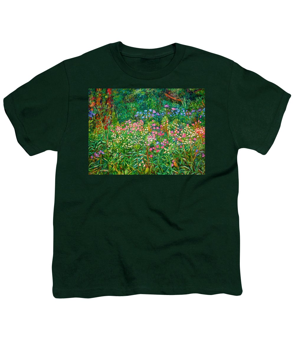 Floral Youth T-Shirt featuring the painting Wildflowers Near Fancy Gap by Kendall Kessler