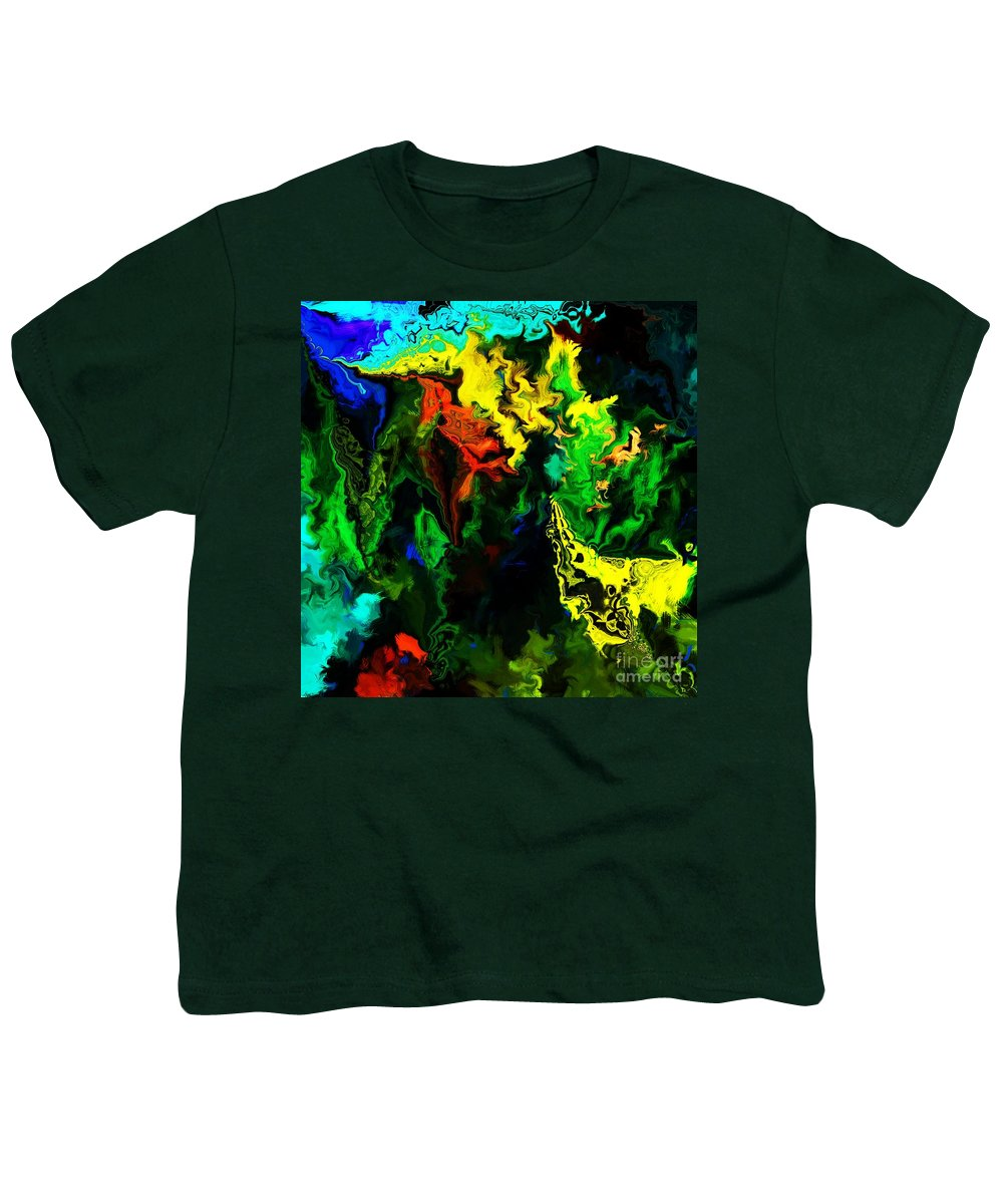 Abstract Youth T-Shirt featuring the digital art Abstract 2-23-09 by David Lane