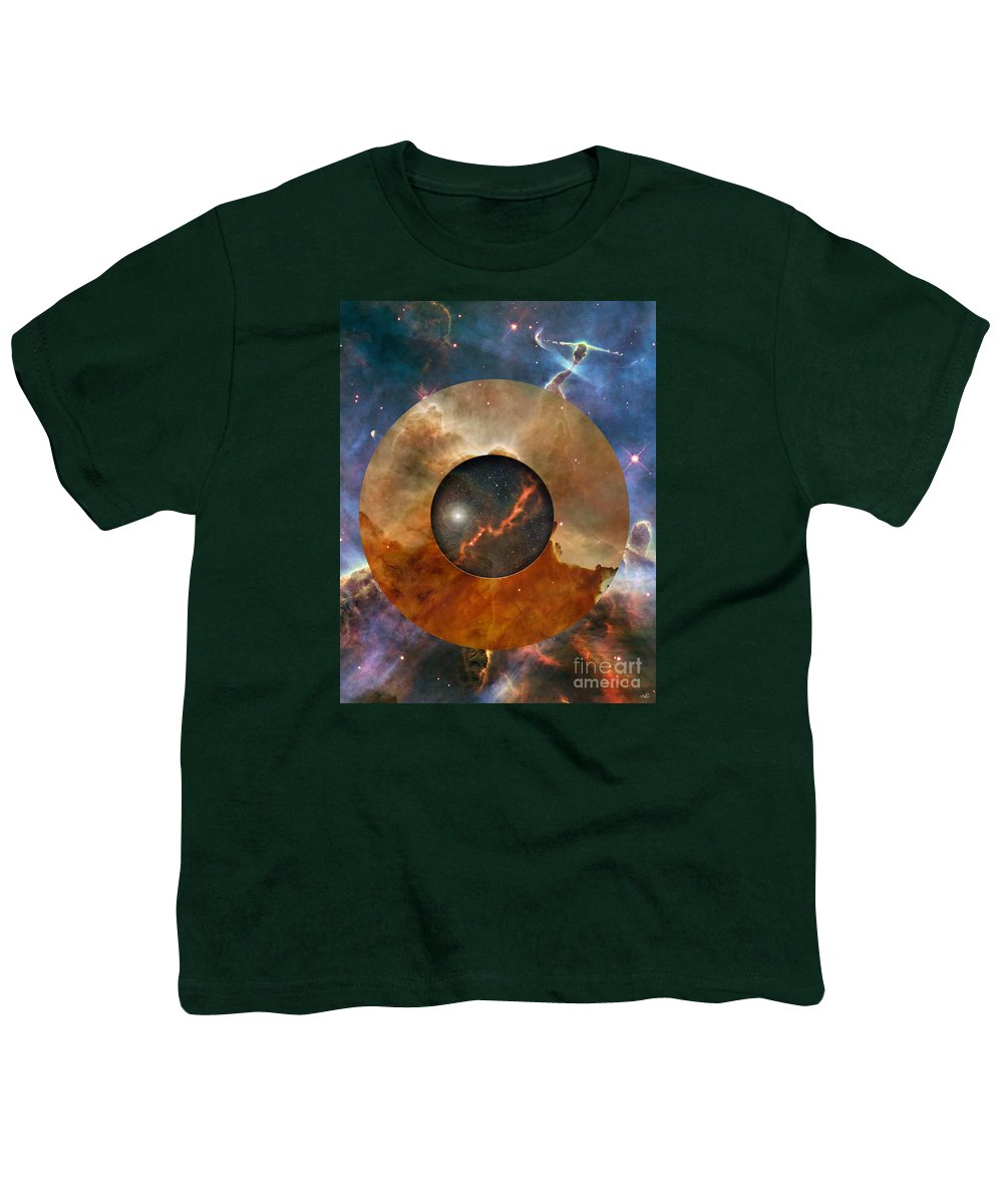 astral Abstraction Youth T-Shirt featuring the digital art Astral Abstraction I by Kenneth Rougeau