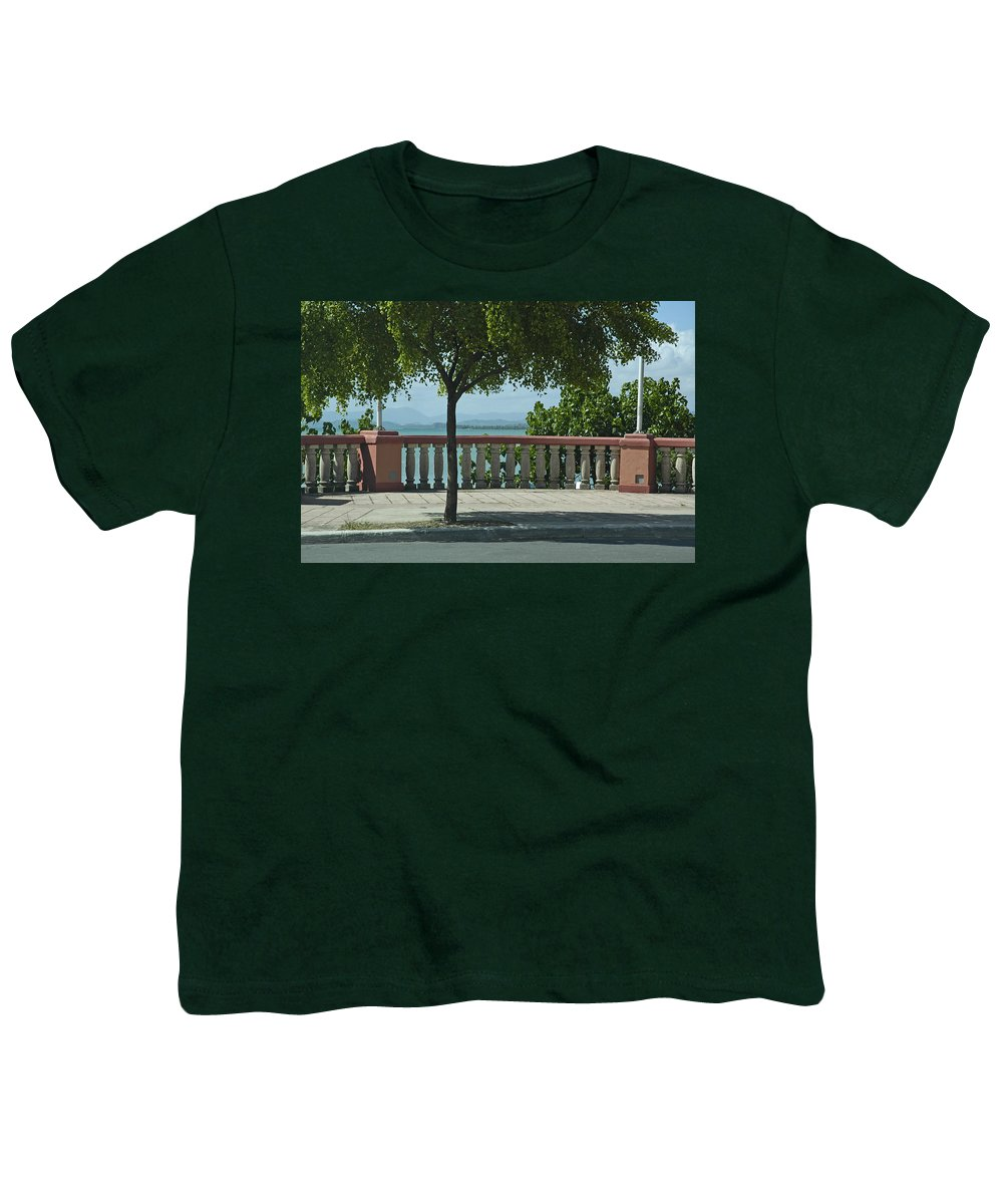 Landscape Youth T-Shirt featuring the photograph Balcony On The Beach In Naguabo Puerto Rico by Tito Santiago