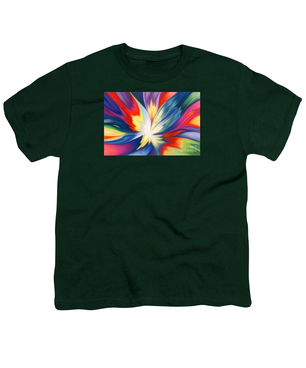 Abstract Youth T-Shirt featuring the painting Burst Of Joy by Lucy Arnold